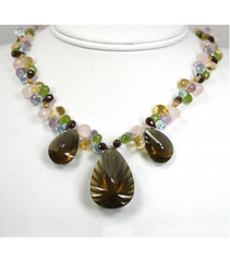 DEN012 - Smokey Quartz Beaded Necklaces