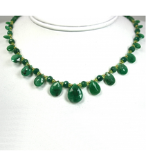 DEN014 - Emerald and Peridot Beaded Necklace