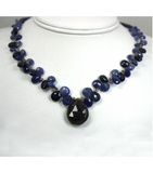 DEN028 - Sapphire Beaded Necklace