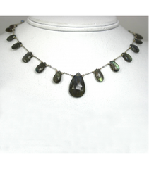 DEN030 - Labradorite Beaded Necklace