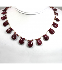 DEN032 - Ruby Beaded Necklace