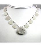 DEN036 - Druzy Beaded Necklace