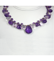 DEN040 - Amethyst Beaded Necklace