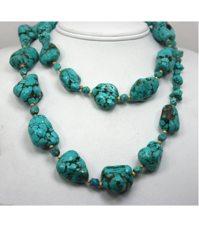 DEN064 - Turquoise Beaded Necklace