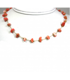 DEN078 - Coral Beaded Necklace