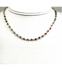 DEN082 - Tourmaline Beaded Necklace