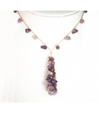DEN090 - Amethyst Beaded Necklace