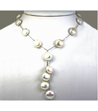 DENP016 - Fresh Water Coin Pearl Necklace