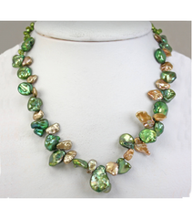 DENP020 - Fresh Water Keishi Pearl Necklace