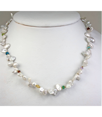 DENP022 - Fresh Water Keishi Pearl Necklace