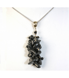 DEP010 - Tumbled Onxy Beaded Pendant