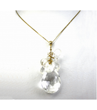 DEP022 - White Quartz Beaded Pendant