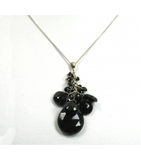 DEP024 - Onyx Spinal Beaded Pendant