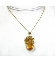 DEP030 - Citrine Beaded Pendant