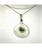 DEP054 - Solar Quartz, Green Tourmaline Beaded Pendant