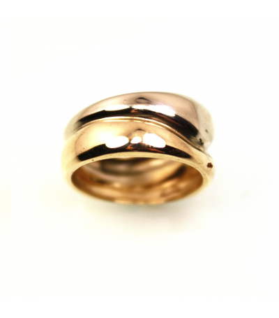 LEGB018 - 14kt White & Yellow Gold Two-Toned Wedding Band