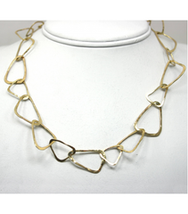 "LEHC010 - 14kt Yellow Gold 25"" Hammered Chain"
