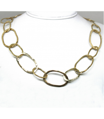 "LEHC012 - 14kt Yellow Gold 27"" Hammered Chain"