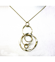 LEHCP018 - 14kt Yellow Gold Hammered Pendant