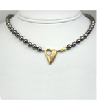 "LENP014 - 19"" Cultured Black Pearl Necklace"