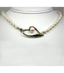 "LENP016 - 19"" Cultured Pearl Necklace"