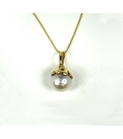 LENP026 - 14kt Yellow Gold South Sea Pearl Pendant