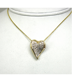 LEPD014 - 14kt Yellow Gold Diamond Pendant