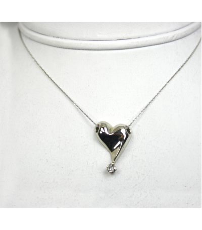 LEPD018 - 14kt White Gold Diamond Pendant