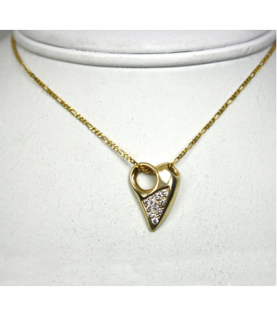 LEPD020 - 14kt Yellow Gold Diamond Pendant