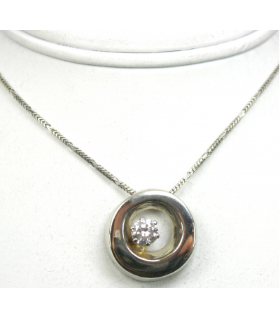 LEPD022 - 14kt White Gold Diamond Pendant