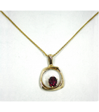 LEP022 - 14kt Yellow Gold Tourmaline Gemstone Pendant