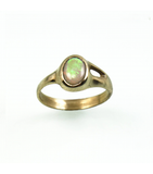 LECS036 - 14kt Yellow Gold Opal Cabochon Ring