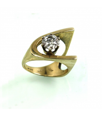 LERD010 - 14Kt Yellow Gold Diamond Ring