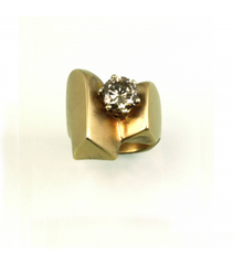 LERD014 - 14kt Yellow Gold Diamond Ring