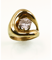 LERD018 - 14kt Yellow Gold Diamond Ring