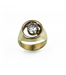 LERD020 - 14kt Yellow Gold Diamond Ring