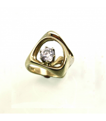 LERD022 - 14kt Yellow Gold Diamond Ring