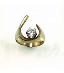 LERD024 - 14kt Yellow Gold Diamond Ring