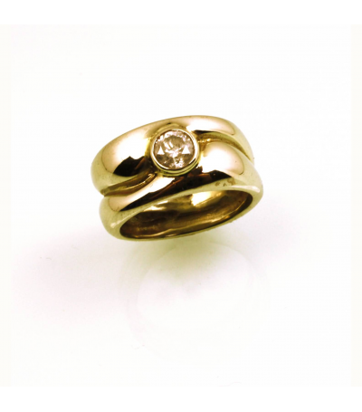 LERD026 - 14kt Yellow Gold Diamond Ring