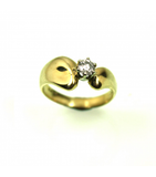 LERD030 - 14kt Yellow Gold Diamond Ring