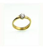 LERD038 - 18kt Yellow Gold Diamond Ring
