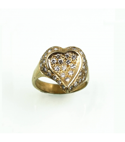 LERD046 - 14kt Yellow Gold Diamond Ring