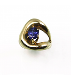 LERFS016 - 14kt Yellow Gold Tanzanite Faceted Ring