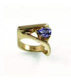LERFS018 - 14kt Yellow Gold Tanzanite Faceted Ring