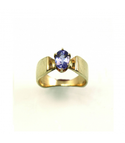 LERFS022 - 14kt Yellow Gold Tanzanite Faceted Ring
