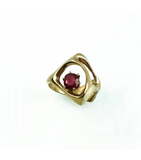 LERFS044 - 14kt Yellow Gold Ruby Faceted Ring