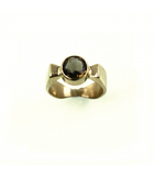 LERFS056-001 - 14kt Yellow Gold Smokey Topaz Faceted Ring