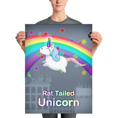 Rat Tailed Unicorn Poster