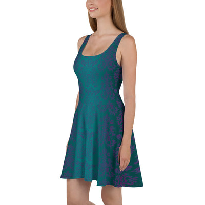 Purple Teal Exclusive Patron Skater Dress