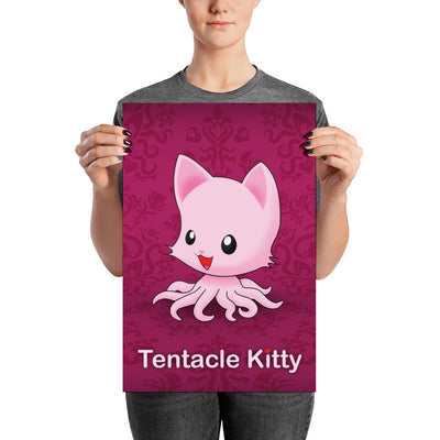 Tentacle Kitty Poster